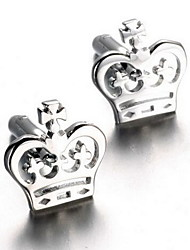 Men's Fashion Crown Silver Alloy French Shirt Cufflinks (1-Pair) Christmas Gifts