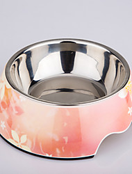 Beautiful floral Design Pet Bowl for Dogs and Cats
