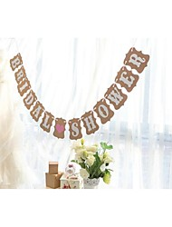 Vintage Rustic Bridal Shower Banner Wedding Engagement Party Garlands Hen Party Decorations