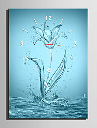 E-HOME® Water Flowers Clock in Canvas 1pcs