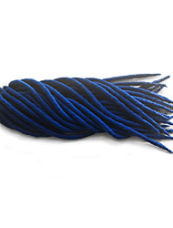 Folded 14 18inch Soft Dreadlocks Synthetic Crochet Braiding Twist Hair Extensions Dread Locks Weave