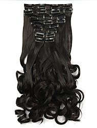 черный длина 60 см синтетический парик оптовые завитки (цвет 4005)