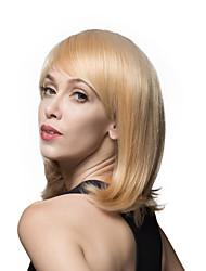 Woman's Ladylike Medium Remy Human Hair Hand Tied -Top Elegant Emmor Wigs