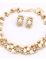 Alloy / Imitation Pearl Jewelry Set Necklace/Earrings Party / Daily / Casual 1set