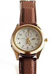 Masculino Relógio de Moda Quartz / PU Banda Legal Marrom marca