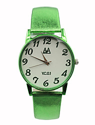 Women's Fluorescent Colors Leather Strap Leisure Cartoon Simple Clothing Accessories Show Student Watches