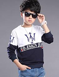 Boy's Cotton Spring/Autumn Long Sleeve Boys Clothing Teenage Kids Clothes Casual Boys Tops