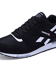 Men's Sneakers Summer Tulle Fabric Lace-up Black Blue Red Gray Running