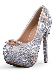 женская обувь стилет каблук каблуки каблуки свадьба / партия&вечер / платье серебро