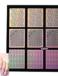 Nail Art prego etiqueta Diecut Manicure Stencil