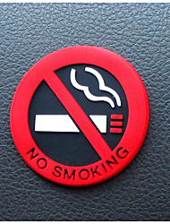 Natural Latex Raw Material Identification No Smoking Ban Smoking Car Logo Stickers