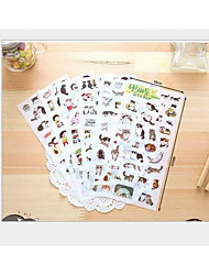 Six into decorative lovely DIY photo album stickers