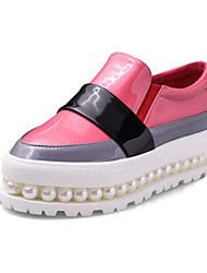 Women's Shoes Cowhide / Patent LeatherFall / Winter Platform / Creepers / Comfort / Round Toe Loafers & Slip-OnsDress