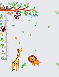 50-150Cm Kids Cartoon Tree Monkey Giraffe Animals Height Stickers Children's Bedroom Wall Stickers PVC Wall Decals