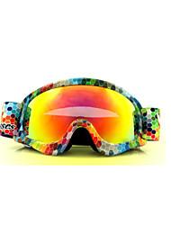 enfants des lunettes de ski brouillard lunettes de ski de neige lunettes usine de galvanoplastie Vente en gros