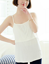 Maternity Strap Layered Blouse,Cotton Sleeveless