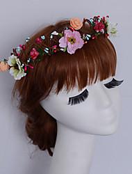 Women's Fabric Headpiece-Wedding / Outdoor Elegant Beach Birdal Flowers Wreaths 1 Piece