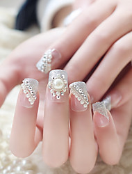24PCS Fashion Pearl Decorate Nail Tips