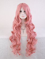Capless Pink Color High Quality Natural Curly Synthetic Wig
