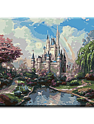 Frame Wall Art Pictures Painting By Numbers Hand Painted Oil Painting On Canvas Home Decor Of Landscape Dream Castle