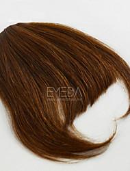 seamless estrondo forma invisível verdadeira clipe franja de cabelo humano na franja franjas de cabelo remi brasileiros 30g / pcs de