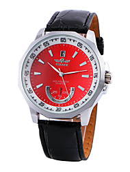 WINNER® Men's Automatic Mechanical Fashion Dial PU Leather Band Wrist Watch (Assorted Colors) Cool Watch Unique Watch