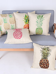 Decorative Pillow Case Cotton Fruit Pattern