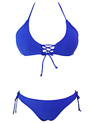 Women's Stylish Tie Detail Halter 2pcs Bathing Suit bikini