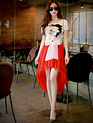Pink Doll® Women's Above Knee Sweety Irregular Skirt-X14CSK106