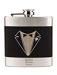 Groom / Groomsman / Couple / Parents Gifts Piece/Set Hip Flasks Classic / Modern / Lovers Wedding / Valentine Stainless Steel Personalized