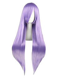 Cosplay Wigs Your Lie in April Lisanna Purple Long Anime Cosplay Wigs 80 CM Heat Resistant Fiber Male / Female