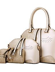 Women PU Shell Shoulder Bag / Tote - Blue / Gold / Brown / Black