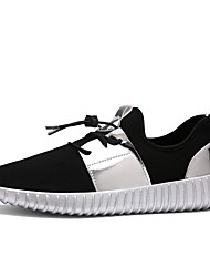 Women's Sneakers Summer Tulle Casual Flat Heel Lace-up Black Silver