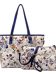 Women PU Casual / Office & Career / Shopping Tote / Bag Sets Blue / Red / Black