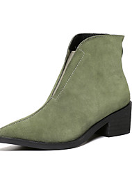 Women's Shoes Cowhide / Suede Fall / Winter Fashion Boots / Combat Boots / Pointed Toe Boots Office & Career / Party