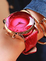 Women's Fashion Watch Quartz Japanese Quartz Casual Watch Leather Band Blue Red Purple