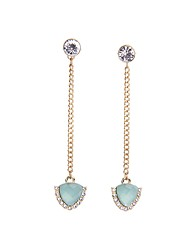 European Style Luxury Gem Long Earrrings Aristocratic style Drop Earrings for Women Fashion Jewelry Best Gift
