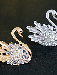 Little Swan Crystal Brooch