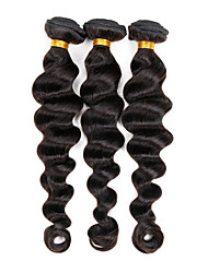 "Peruvian Weave Hair Extensions Loose Wave Virgin Hair 3 Bundles 300G 8""-26"" Mixed Length Hair Weft"