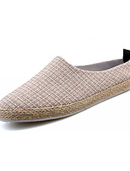 Women's Shoes Fabric / Tulle Spring / Summer / Fall Slippers Loafers Casual Flat Heel Others Black / Beige / Khaki