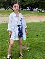 Casual/Dagelijks-Patchwork-Katoen-Zomer-Girl's-Kostuum & Blazer-Groen / Wit