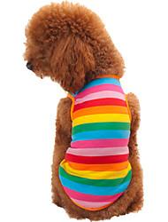 Gatos / Perros Camiseta Arco iris Ropa para Perro Verano / Primavera/Otoño Rayas Moda