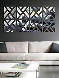Loisir Stickers muraux Miroirs Muraux Autocollants Stickers muraux décoratifs,PVC Matériel Amovible Décoration d'intérieur Wall Decal