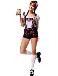 Cosplay Costumes Party Costume Oktoberfest/Beer Waiter/Waitress Career Costumes Festival/Holiday Halloween Costumes Patchwork