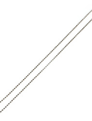 5Pcs 2.3mm Round Ball Chain Necklac Rhodium Plated Pendant Chain Necklace (70cm Length)