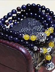 Pulseiras Pulseiras Strand Ágata Forma Redonda Fashion / Dupla camada Diário / Casual Jóias Dom Azul,1pç