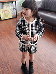 Girl's Casual/Daily Check Shorts / Suit & Blazer,Cotton Spring / Fall Black