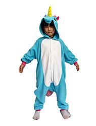 Kigurumi Déguisements d'animaux Halloween / Noël / Carnaval / Le Jour des enfants / Nouvel an Incarnadin / Bleu Couleur Pleine Polaire