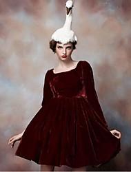Pour My Fair Lady® Femme Bateau Manche Longues Au dessus des genoux Robes-1203017