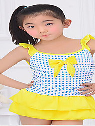 Baby Beach Polka Dot Dress,Nylon Summer Blue / Yellow